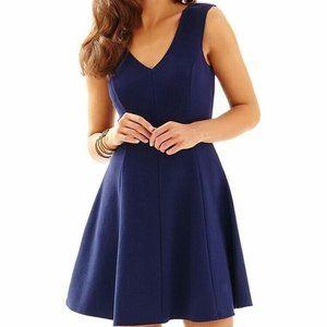 Lilly Pulitzer Dahlia Fit & Flare Navy Dress XS